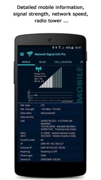 دانلود Network Signal Info Pro 5.69.42 برنامه نمایش قدرت سیگنال شبکه اندروید