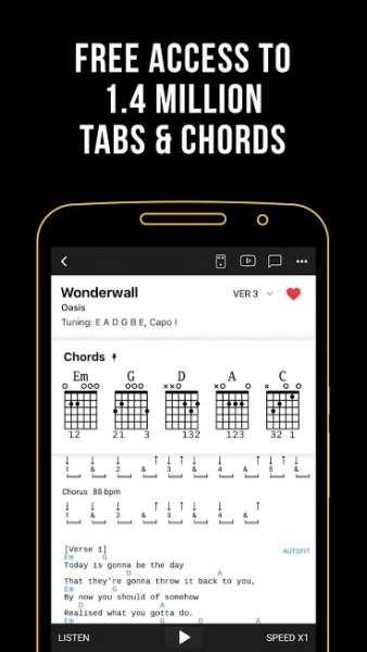 دانلود Ultimate Guitar Tabs & Chords 6.2.3 برنامه اندروید شبیه ساز گیتار