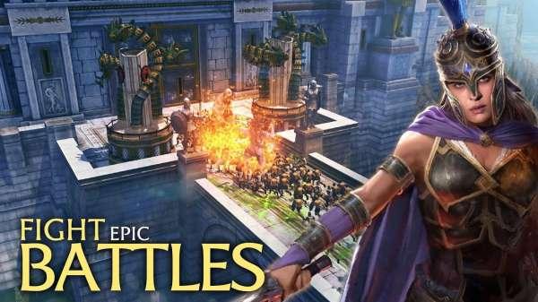 دانلود Olympus Rising 5.3.5 بازی اندروید نبرد در کوه المپ