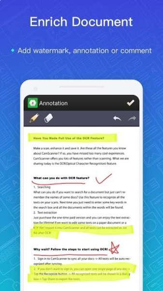 دانلود CamScanner Phone PDF Creator 5.18.5.20200331 اپلیکیشن اسکنر اسناد اندروید