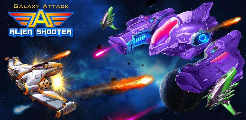 دانلود Galaxy Attack: Alien Shooter 15.9 بازی حمله به کهکشان اندروید + مود +مگامود