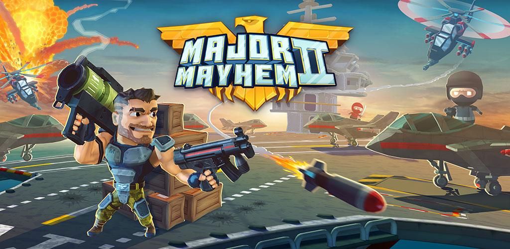 دانلود Major Mayhem 2 – Action Arcade Shooter 1.160.2019042211 بازی هرج و مرج اساسی 2 +مود