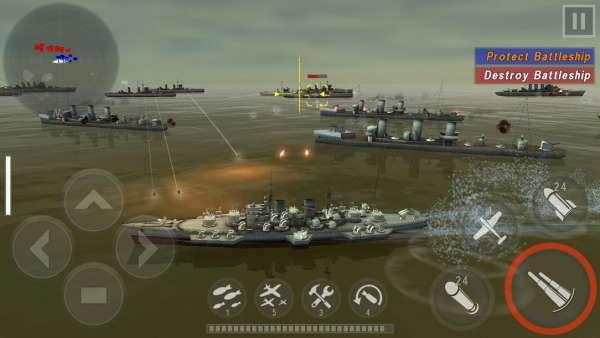 دانلود WARSHIP BATTLE 3D World War II 3.3.4 بازی نبرد کشتی های جنگ جهانی دوم