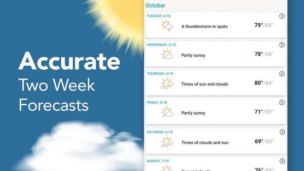 دانلود AccuWeather Platinum 7.5.2-10 دانلود برنامه پیش بینی وضعیت آب و هوا