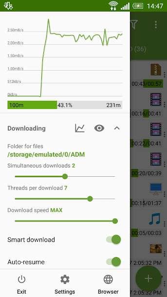 دانلود Advanced Download Manager Pro 10.4.2 برنامه مدیریت دانلود ADM در اندروید