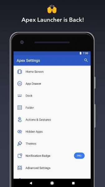 دانلود Apex Launcher Pro 4.9.20 اپکس لانچر اندروید + مود