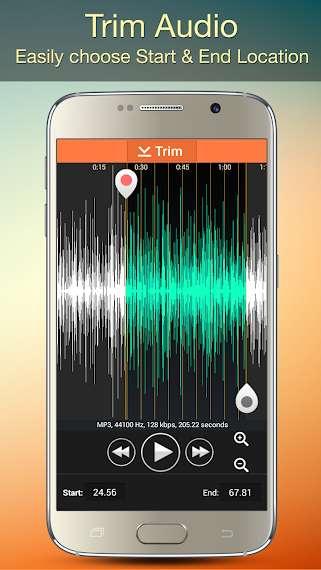 دانلود Audio MP3 Cutter 1.85 اپلیکیشن حرفه ای ویرایش آهنگ اندروید