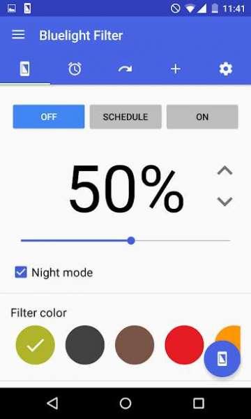 دانلود Bluelight Filter for Eye Care 4.1.9 برنامه کاهش خستگی چشم اندروید