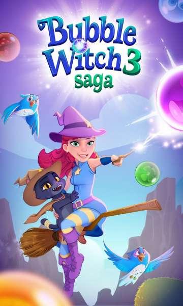 دانلود Bubble Witch 3 Saga 7.5.36 بازی پازلی جادوگر حباب ها 3 اندروید + مود