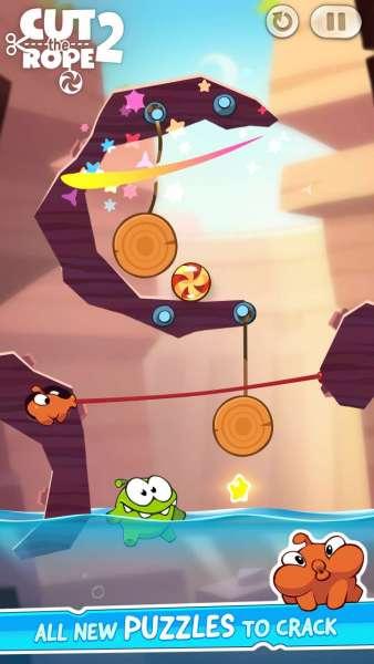 دانلود Cut the Rope 2 1.30.0 بازی جذاب طناب را ببر اندروید