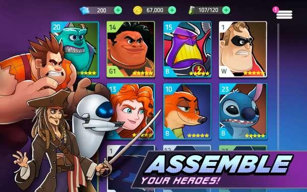 دانلود Disney Heroes 1.15.2 بازی زیبای نبرد قهرمانان دیزنی اندروید