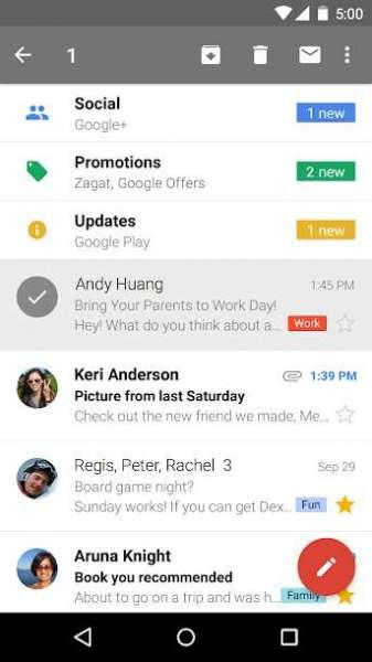دانلود Google Gmail 2021.05.16.378324220 اپلیکیشن رسمی جیمیل