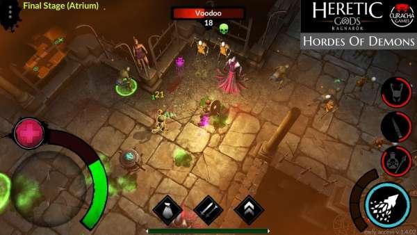 دانلود Heretic Gods 1.11.11 بازی نقش آفرینی خدایان مرتد اندروید + مود