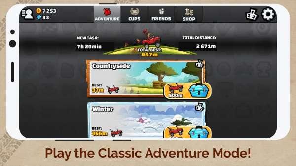 دانلود Hill Climb Racing 2 1.46.3 بازی مسابقات صعود تپه + مود