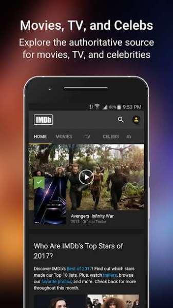 دانلود IMDb Movies & TV 8.4.3.108430401 نرم افزار نمایش اطلاعات فیلم ها اندروید