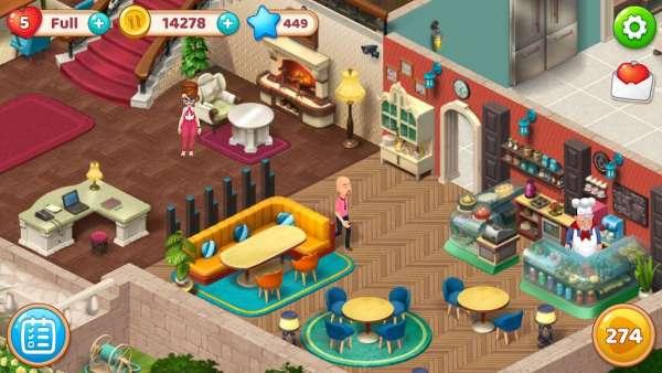 دانلود Manor Cafe 1.106.10 بازی پازلی مدیریت کافه ی بزرگ اندروید + مود
