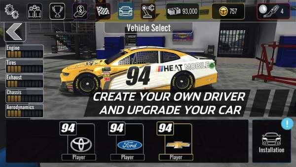 دانلود NASCAR Heat Mobile 4.0.4 بازی ماشین سواری نسکار اندروید + مود + دیتا