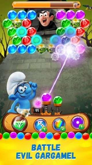 دانلود Smurfs Bubble Story 3.04.010002 بازی زیبا های داستان اسمورف های اندروید + مود