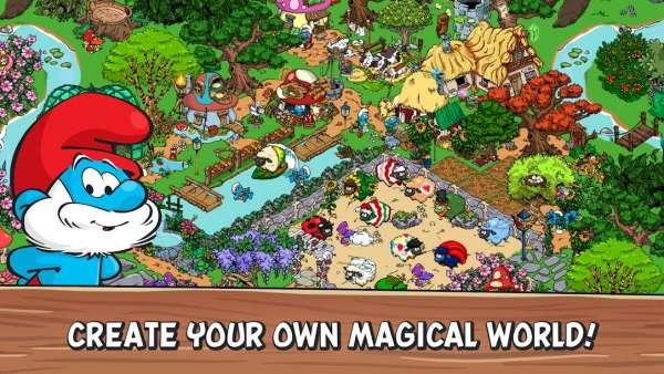دانلود  Smurfs' Village 2.16.0 بازی دهکده اسمورفها + مود + دیتا