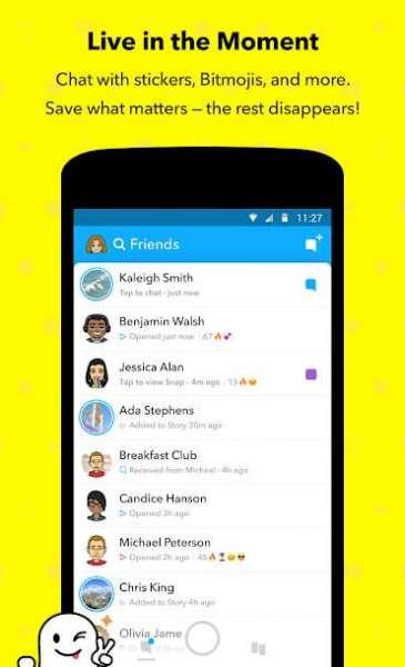 دانلود Snapchat 10.87.5.69 برنامه اسنپ چت اندروید