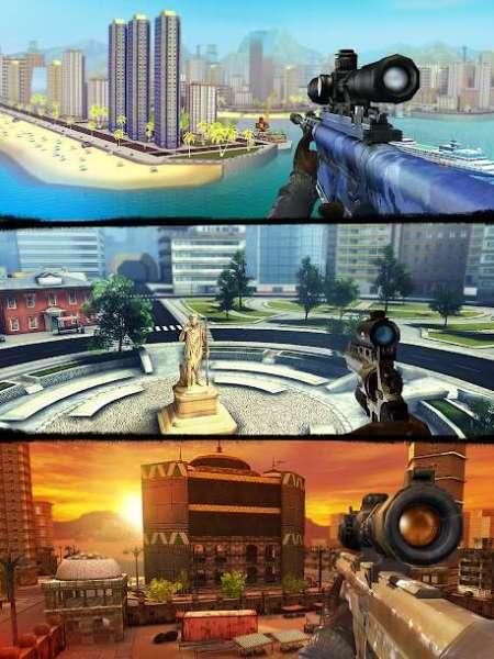 دانلود Sniper 3D Gun Shooter: Free Elite Shooting Games 3.25.2 بازی تک تیرانداز اندروید + مود