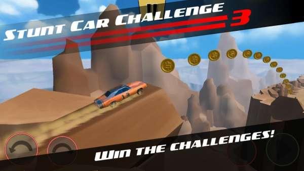 دانلود Stunt Car Challenge 3 3.33 بازی اندروید ماشین عبور از موانع + مود