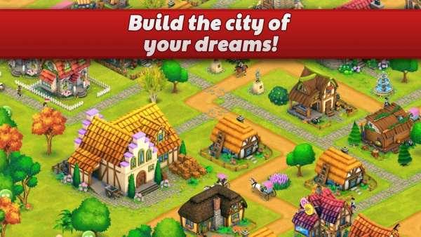 دانلود Town Village: Farm, Build, Trade, Harvest City 2.5.5 بازی شهر سازی و مزرعه داری اندروید + مود