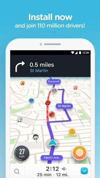 دانلود Waze Social GPS Maps & Traffic 4.61.90.900 برنامه مسیریاب ویز اندروید