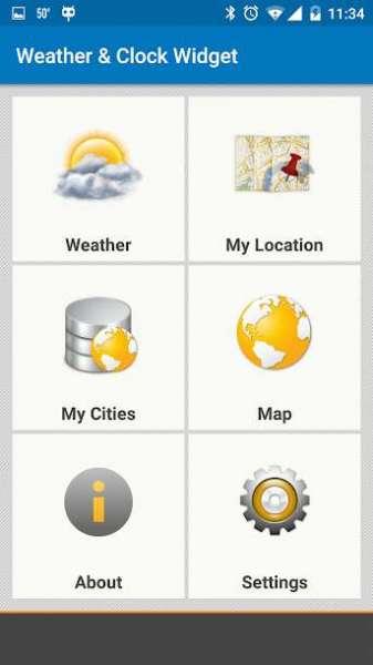 دانلود Weather & Clock Widget Ad Free 4.2.6.7 برنامه هواشناسی اندروید