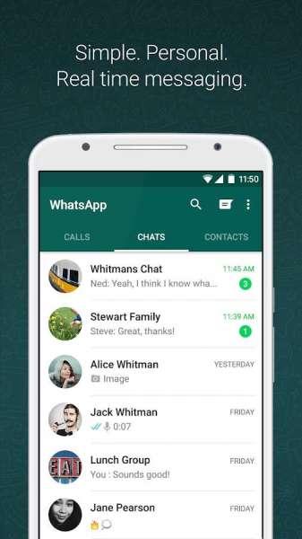 دانلود WhatsApp 2.20.13 آخرین نسخه منسجر واتس اپ اندروید و  ویندوز