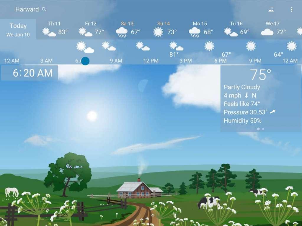 دانلود YoWindow Weather 2.16.12 برنامه هواشناس زیبا و انیمیشنی اندروید + ویندوز