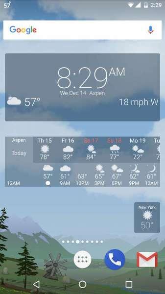 دانلود YoWindow Weather 2.18.6 برنامه هواشناس زیبا و انیمیشنی اندروید + ویندوز