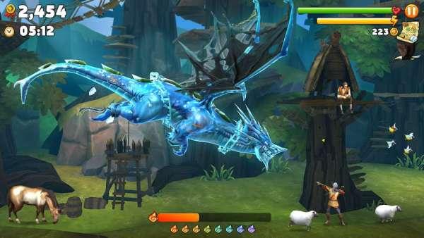 دانلود Hungry Dragon 3.17 بازی اندروید اژدها گرسنه اندروید + مود + دیتا