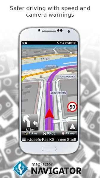 دانلود MapFactor GPS Navigation Maps 6.0.157 برنامه مسیریاب مپ فکتور اندروید