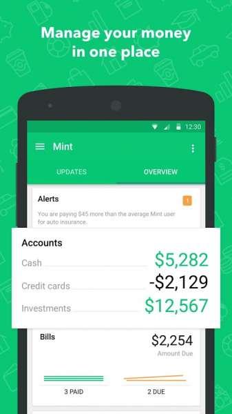 دانلود Mint : Budget, Bills, Finance 8.17.1 برنامه مدیریت امور مالی برای اندروید