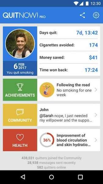 دانلود QuitNow PRO – Stop smoking 5.150.2 برنامه ترک سیگار اندروید