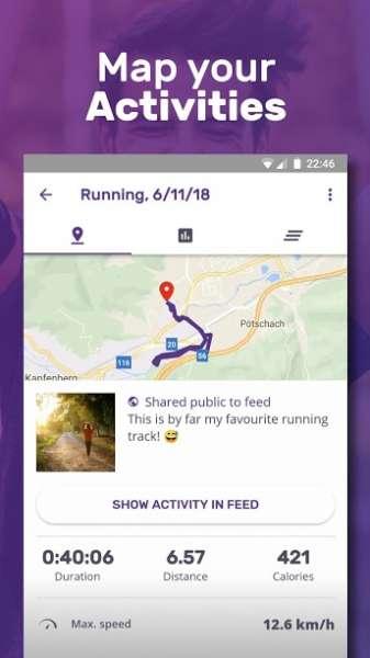 دانلود FITAPP Running Walking Fitness Full 6.7.10 جی پی اس تناسب اندام اندروید