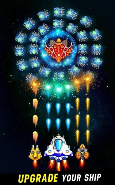 دانلود Space Shooter: Galaxy Attack 1.511 بازی تیر اندازی در کهکشان بزرگ اندروید + مود