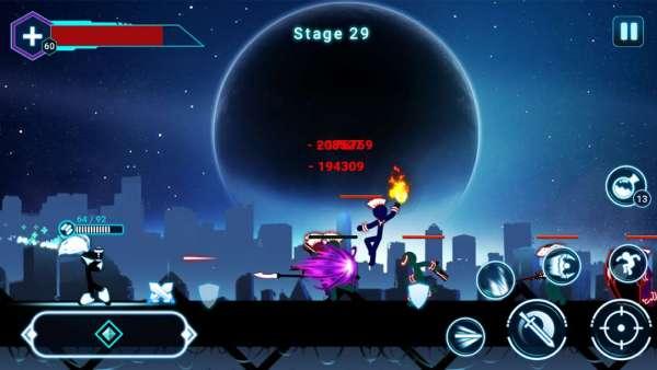 دانلود Stickman Ghost 2: Galaxy Wars 7.1 بازی اندروید شبح استیکمن 2 در جنگ ستارگان + مود