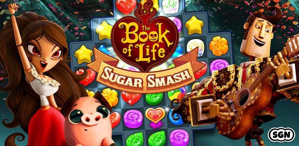 دانلود Book of Life Sugar Smash 3.74.111.905171501 بازی سر و صدای آب نبات ها اندروید + مود