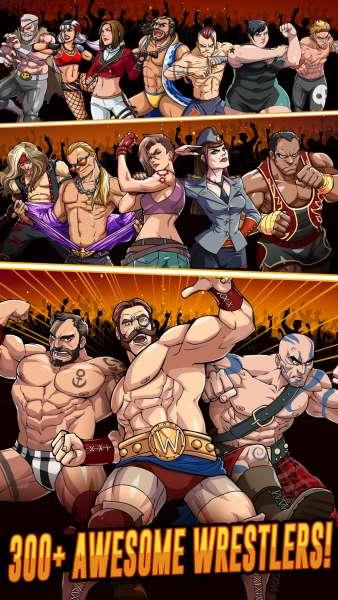 دانلود The Muscle Hustle: Slingshot Wrestling 1.33.2331 بازی مبارزه ای قهرمانان کشتی اندروید + مود