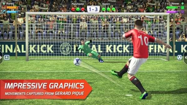 دانلود Final kick 2020: Online football 9.1.4 بازی اندروید پنالتی ضربات نهایی + مود + دیتا
