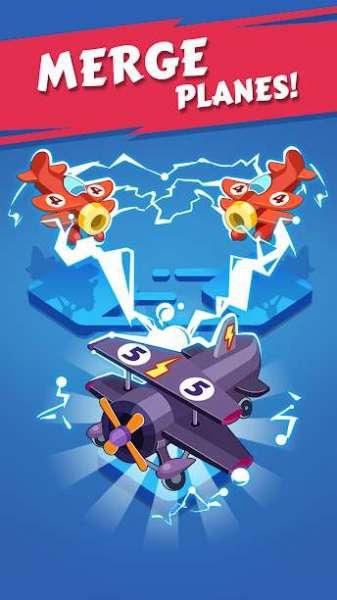 دانلود Merge Plane – Click & Idle Tycoon 1.19.2 بازی اندروید ساخت هواپیما + مود