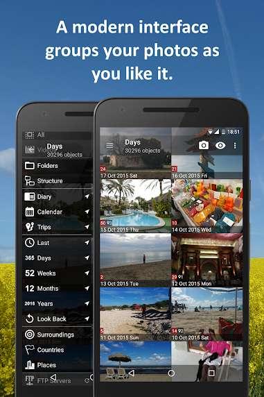 دانلود PhotoMap PRO Photo Gallery 9.0.1 گالری عکس فوق العاده اندرید