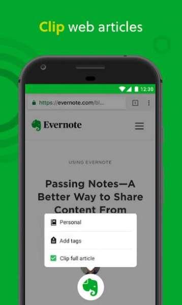 دانلود Evernote Premium 10.18 برنامه یادداشت برداری حرفه ای اندروید