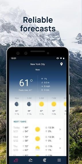 دانلود WeatherPro Premium 5.6.5 بهترین برنامه پیش بینی وضعیت آب و هوا اندروید + مود
