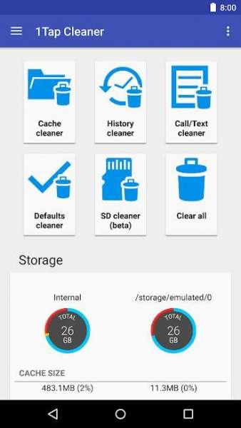 دانلود 1Tap Cleaner Pro 3.80 برنامه پاکسازی کش اندروید + مود