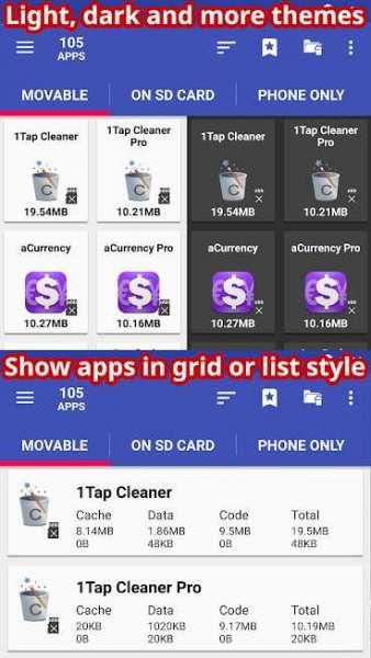 دانلود AppMgr Pro III App 2 SD, Hide and Freeze apps 5.28 برنامه اندروید انتقال برنامه ها به کارت حافظه + مود