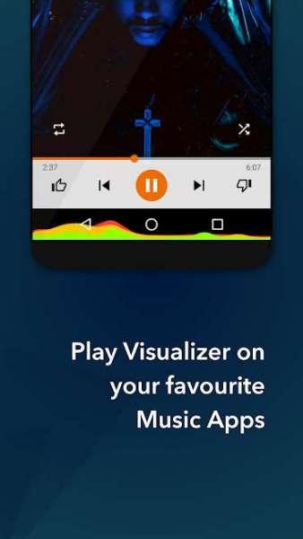 دانلود MUVIZ Navbar Music Visualizer Pro 5.0.7.0 برنامه رقص نور صفحه نمایش اندروید