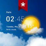 دانلود Transparent clock & weather Pro 3.50.0.2 برنامه اندروید ساعت و وضعیت آب و هوا